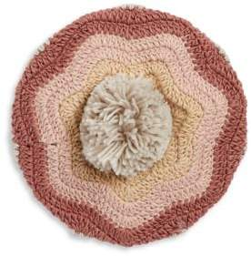 BCBGMAXAZRIA Crocheted Stripe Beret
