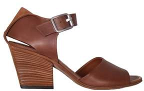 Pantanetti Women's Brown Leather Sandals.