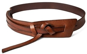 Mossimo Women's Wide Messy Knot Belt Brown L