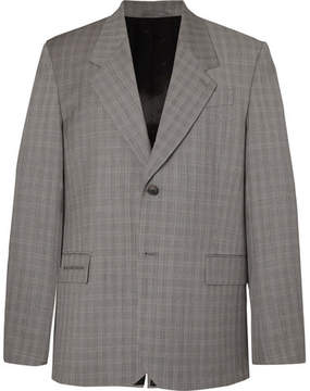 Balenciaga Archetype Oversized Prince Of Wales Checked Wool And Mohair-Blend Blazer