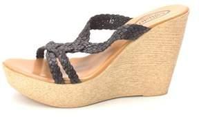Callisto Womens Paulet Leather Open Toe Casual Platform Sandals.