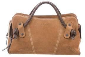 Hogan Suede Leather Handle Bag