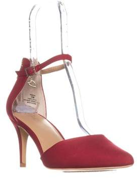 Thalia Sodi Ts35 Vanesssa Ankle Strap Pumps, Red.