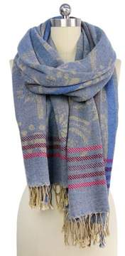 Saachi Womens Denim Floral Scarf.