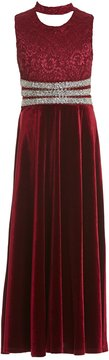 Xtraordinary Big Girls 7-16 Floor-Length Velvet Ballgown