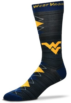 For Bare Feet Men's West Virginia Mountaineers Fan Nation Crew Socks
