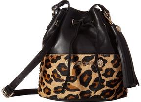 Just Cavalli - Cheetah Bucket Bag with Tassel Handbags