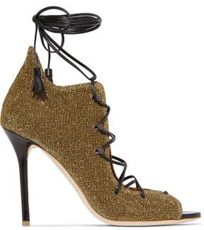 Malone Souliers Savannah Lurex Sandals - Gold