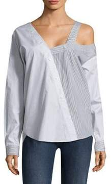 Each X Other Deconstructed Poplin Blouse