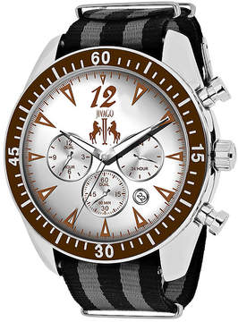 Jivago Timeless Mens Silver-Tone Dial and Black Strap Watch