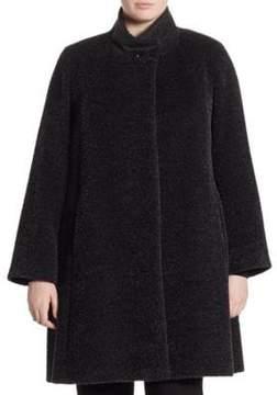 Cinzia Rocca Cinzia Rocca, Plus Size Plus Wool& Alpaca Princess Coat