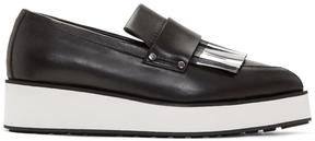 McQ Black Fringed Manor Loafers