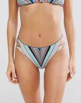 Bikini Lab Reversible Stripe Strappy Bikini Bottom