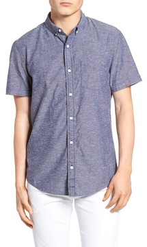 1901 Men's Placed Stripe Chambray Shirt