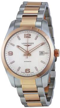 Longines Conquest Classic Automatic Silver Dial Stainless Steel and 18k Rose Gold Men's Watch