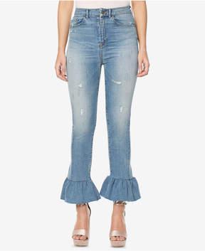 Buffalo David Bitton Ivy Ruffled Skinny Jeans