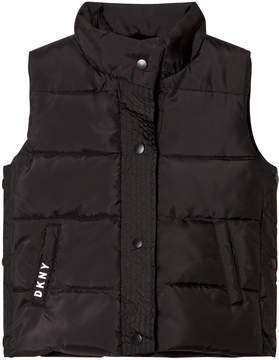 DKNY Black Reversible Gilet into Faux Fur