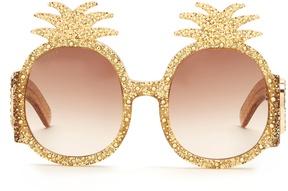GUCCI Embellished pineapple glitter-acetate sunglasses