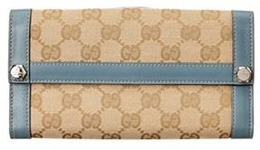 Gucci Beige Gg Supreme Canvas Continental Wallet. - BEIGE MULTI - STYLE