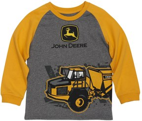 John Deere Boys 4-7x Tractor Wrap-Around Graphic Raglan Tee