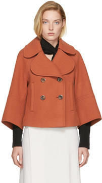 Chloé Orange Wool Peacoat