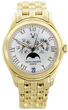 Patek Philippe Annual Calendar Moonphase White Dial Gold Stainless Steel Automatic Unisex Watch