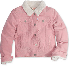 Levi's Faux-Fur Denim Jacket, Little Girls (4-6X)