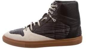 Balenciaga Origami Leather Sneakers