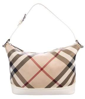 Burberry Super Nova Check Hobo