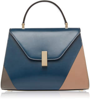 Valextra Iside Medium Color-Blocked Leather Shoulder Bag