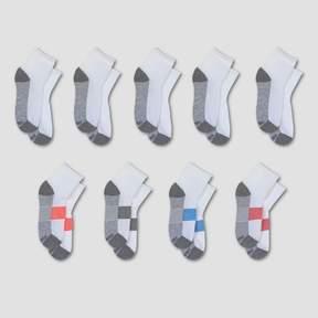 Hanes Kids' Premium® Kids' Ankle Socks 8pk +1 Bonus - White