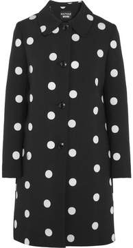 Moschino Embroidered Matelassé Jacket - Black