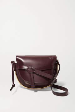 Loewe Gate Small Embellished Leather Shoulder Bag - Burgundy