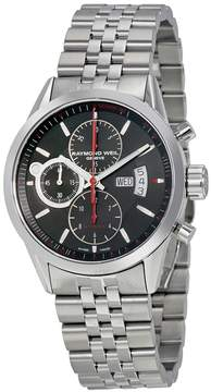 Raymond Weil Freelancer Black Dial Chronograph Stainless Steel Automatic Men's Watch