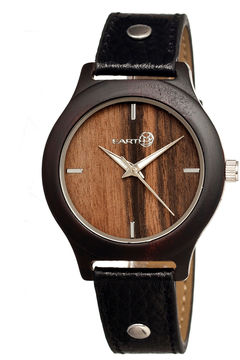 Earth Wood Tannins Dark Brown Leather-Band Watch Ethew1302