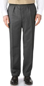 Charles Tyrwhitt Black Stripe Classic Fit Morning Suit Pants Size 32/34
