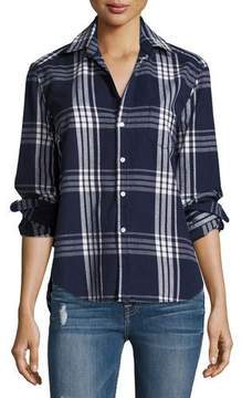 Frank And Eileen Eileen Button-Front Plaid Cotton Shirt