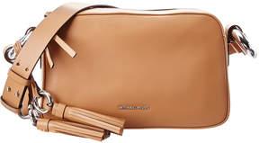 MICHAEL Michael Kors Grand Medium Leather Shoulder Bag - BROWN - STYLE