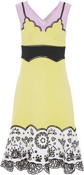 Emilio Pucci Eyelet Strapless Knee Length Dress