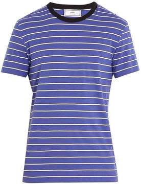 Ami Striped crew-neck T-shirt