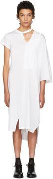 Facetasm White Asymmetric Mantle T-Shirt Dress