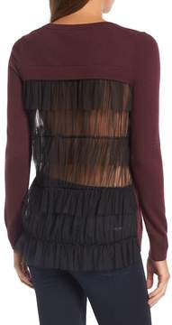 Chelsea28 Tulle Back Sweater