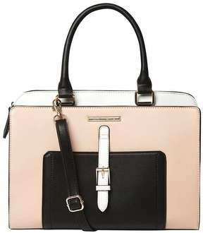 Black And Blush Belted Tote Bag