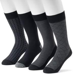 Croft & Barrow Men's 4-Pack Opticool Patterned Dress Socks