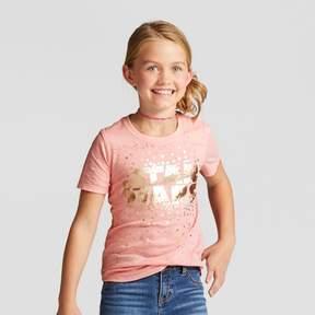 Star Wars Girls' Short Sleeve T-Shirt - Coral
