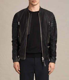 AllSaints Sanderson Leather Bomber Jacket