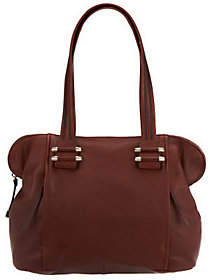 B. Makowsky Zip Top Satchel with Front Zipper Pockets