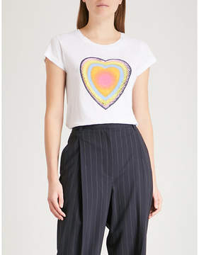 Zadig & Voltaire Skinny Disco heart-print cotton-jersey T-shirt