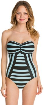 Coco Rave We Love Stripes BC Cup Bandeau One Piece Swimsuit 8129232