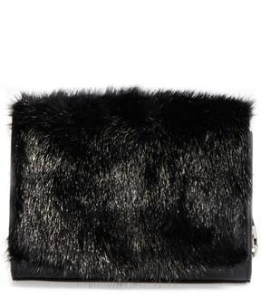 Michael Kors Yasmin Genuine Mink Fur Clutch - Black - BLACK - STYLE
